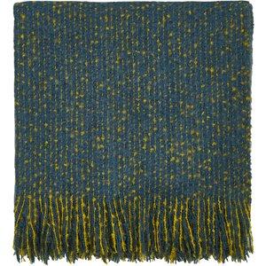 Clarissa Hulse Goosegrass Woven Throw, Blue Qtogogbzblu, Blue