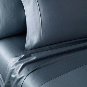 Dkny 300 Thread Count Plain Dye Double Flat Sheet, Slate Furniture Accessories, Slate
