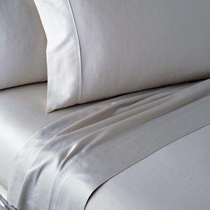 Dkny 300 Thread Count Plain Dye Single Flat Sheet, Platinum Fshdkpp1pla , Platinum