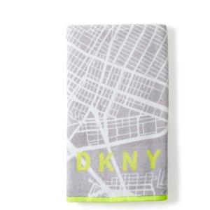 Dkny City Map Bath Towel, Grey Twlcimg3gre , Grey