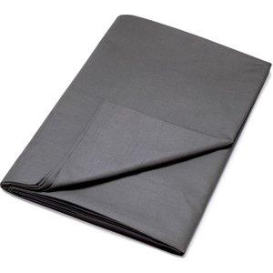 Dkny Egyptian Cotton Plain Dye Double Flat Sheet, Charcoal Fshdecc2cha , Charcoal