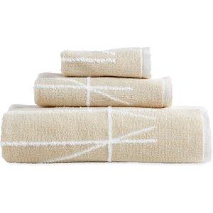 Dkny Geometrix Jacquard Bath Towel, Ivory Furniture Accessories, Ivory