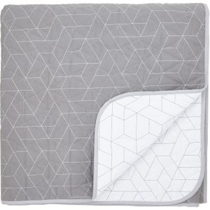 Dkny Paley Park Quilted Throw, Grey Qtbpapgzgry , Grey