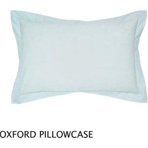 Helena Springfield, 50/50 Plain Dye Percale Oxford Pillowcase, Duck Egg Duchlpdoduc , Duck Egg