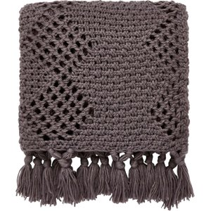 Helena Springfield Anise/peregrine Knitted Throw, Charcoal Blkansczcha, Charcoal