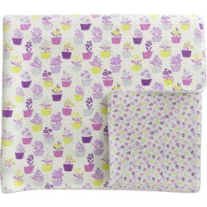 Helena Springfield Bedding Polly Quilted Throw, Foxglove Purple Home Textiles