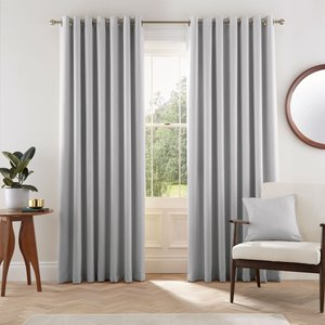 Helena Springfield Eden Lined Curtains 90 X 90, Silver Lcredes0sil, Silver