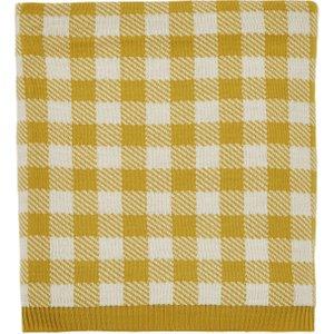 Helena Springfield Mali/oasis Knitted Throw, Safari Yellow Home Textiles, Yellow