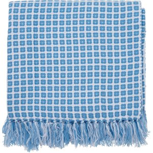 Helena Springfield Patsy Knitted Throw, Blue , Blue