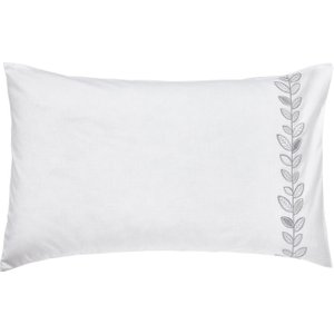 Helena Springfield Petal Housewife Pillowcase, White/silver Furniture Accessories, White/Silver