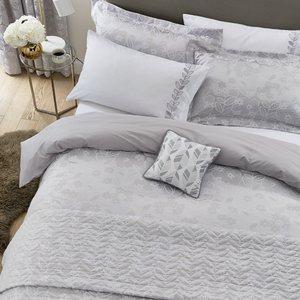 Helena Springfield Petal Single Duvet Cover, White/silver Furniture Accessories, White/Silver