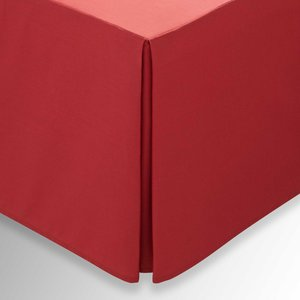 Helena Springfield Plain Dye, 50/50 Percale, Double Valance, Red Home Textiles, Red