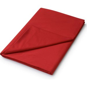 Helena Springfield Plain Dye, 50/50 Percale, Kingsize Flat Sheet, Red Furniture Accessories, Red