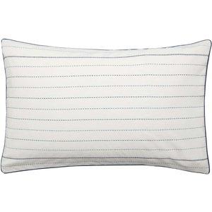 Himeya Woven Dash Housewife Pillowcase, Vintage Indigo Ducwodihind, Vintage Indigo