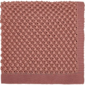 Joules Bedding Cottage Check Knitted Throw, Pink , Pink