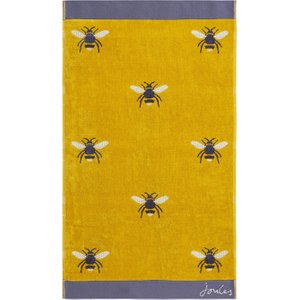 Joules Botanical Bee Bath Towel, Gold Furniture Accessories, Gold