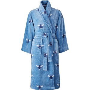Joules Botanical Bee Dressing Gown - Large/extra Large, Pale Blue Robbtbp2blu, Pale Blue