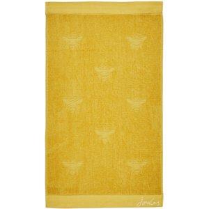 Joules Botanical Bee Semi Plain Bath Towel, Gold Twlbspg3gol, Gold