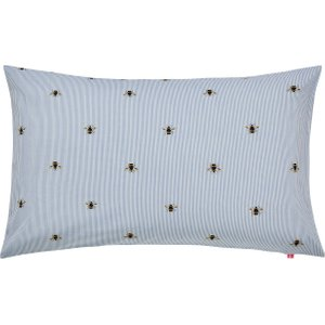Joules Chinoise Floral Housewife Pillowcase, Frozen Blue Furniture Accessories, Blue