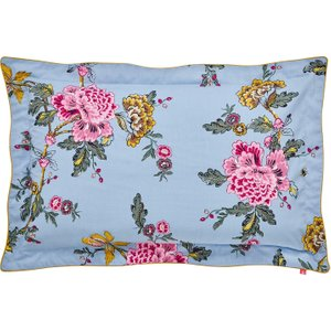 Joules Chinoise Floral Oxford Pillowcase, Frozen Blue Furniture Accessories, Blue