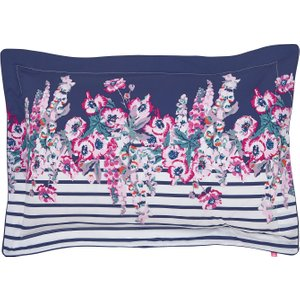 Joules Cottage Garden Border Stripe Oxford Pillowcase, Comet Duccgbcocom, Comet
