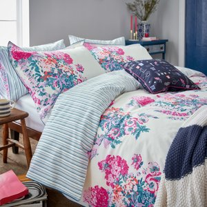 Joules Cottage Garden Floral Kingsize Duvet Cover, White Furniture Accessories