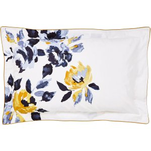 Joules Galley Grade Floral Oxford Pillowcase, Chalk Furniture Accessories, Chalk