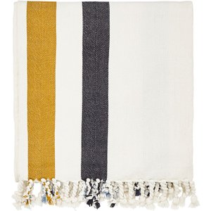Joules Galley Grade Floral Woven Throw, White Home Textiles, White