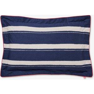 Joules, Galley Grade Stripe Oxford Pillowcase, Navy Ducggsnonav , Navy