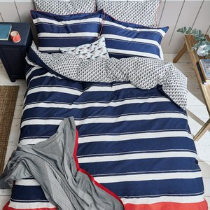 Joules, Galley Grade Stripe Single Duvet Cover, Navy Furniture Accessories, Navy