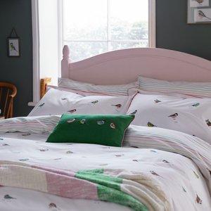 Joules Great British Birds Single Duvet Cover, Chalk Furniture Accessories, Chalk