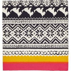 Joules Heritage Peony Knitted Throw, Gold Home Textiles, Gold