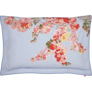 Joules Hollyhock Floral Oxford Pillowcase, Hydra Blue Furniture Accessories, Hydra Blue