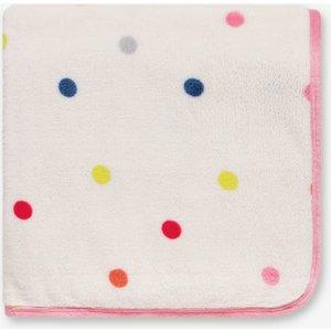 Joules Polka Dot Fleece Throw, Multi Home Textiles, Multi