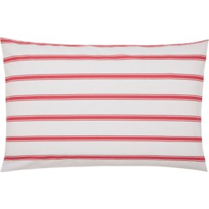 Joules Sail Stripe Housewife Pillowcase, Red Furniture Accessories, Red