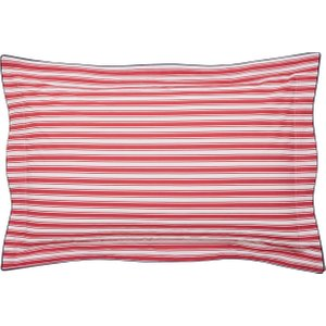 Joules Sail Stripe Oxford Pillowcase, Red Furniture Accessories, Red