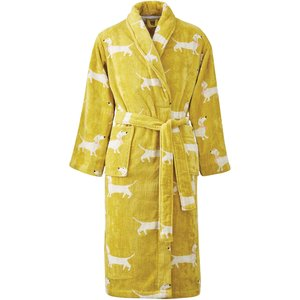 Joules Sausage Dogs Dressing Gown - Small/medium, Gold Robsudg1gol, Gold