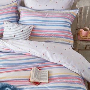 Joules Summer Fruit Stripe Single Duvet Cover, Multi Furniture Accessories, Multi