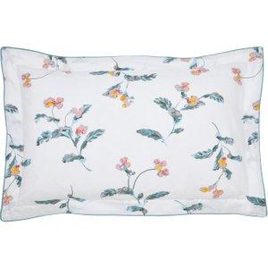 Joules Swanton Floral Oxford Pillowcase, White Furniture Accessories, White