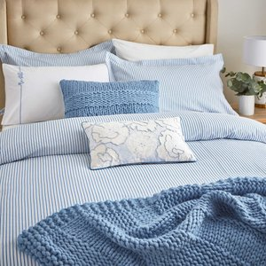 Katie Piper Be Still Candy Stripe Single Duvet Cover Set, Blue Qcsbalb1blu, Blue