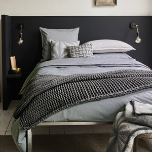 Murmur Bedding, Chambray Double Duvet Cover, Dove Grey Furniture Accessories