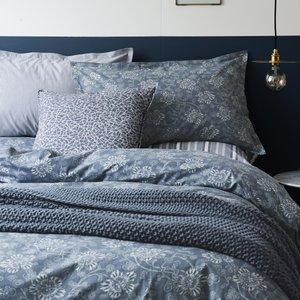 Murmur Bedding, Kiku Single Duvet Cover, Copenhagen Blue Furniture Accessories