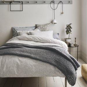 Murmur Bedding, Scribble Kingsize Duvet Cover, Dove Grey Furniture Accessories