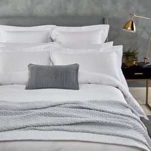 Peacock Blue Hotel Isola Super Kingsize Duvet Cover, White Ducisow8whi, White