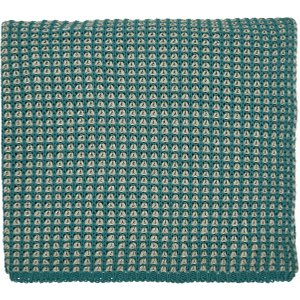 Peacock Blue Hotel Trisara Knitted Throw, Emerald Home Textiles, Emerald