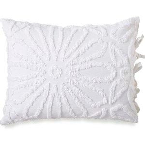 Peri Home Chenille Medallion Housewife Pillowcase, White Duccnmwhwhi, White