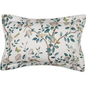 Sanderson Andhara Oxford Pillowcase, Teal & Cream Ducadhtotea, Teal & Cream