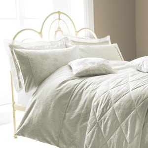 Sanderson Bedding Ashbee Quilted Throw Double, Silver Home Textiles, Silver