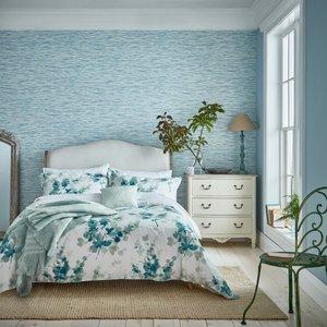 Sanderson Bedding Delphiniums Super Kingsize Duvet Cover, Mint Furniture Accessories, Mint