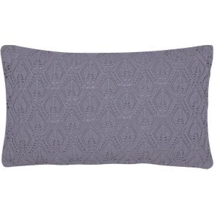 Sanderson Spring Flowers Knitted Cushion 50cm X 30cm, Blue Cshspfbcblu , Blue